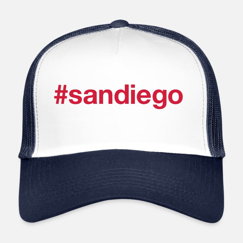California Caps & Hats - SAN DIEGO - Trucker Cap white/navy