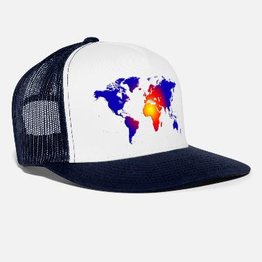 World map of the world - Trucker Cap