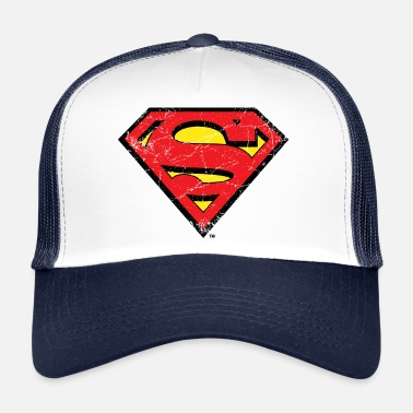 Krypton Superman Logo S-Shield vintage Snapback Cap - Trucker Cap