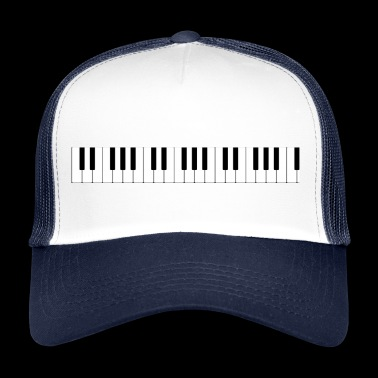The keyboard of the piano - Trucker Cap