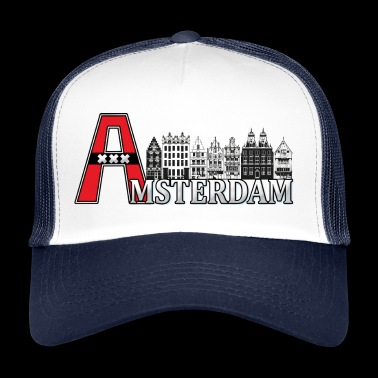 Amsterdam with a large A - Trucker Cap