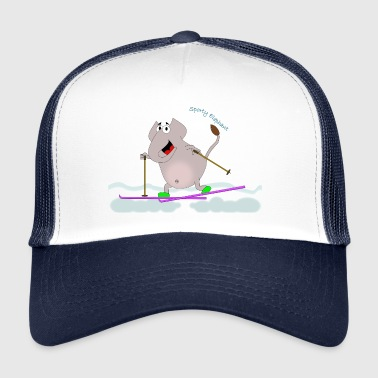 Sporty Elephant - Cross-country ski - Trucker Cap