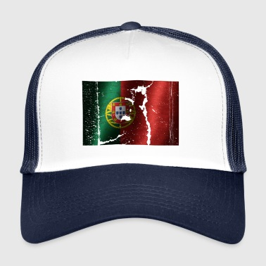 Portugal Flagge cooler Vintage used Style - Trucker Cap