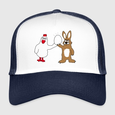 Chicken & Bunny | Easter | Easter time Easter bunny - Trucker Cap