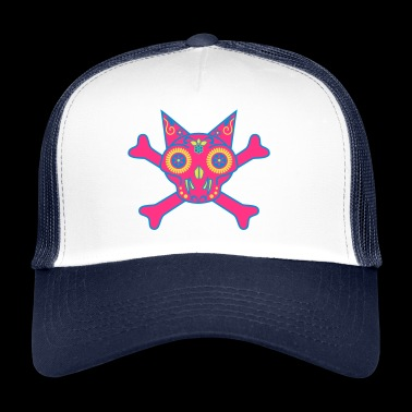 Cat Skull, röd - Trucker Cap