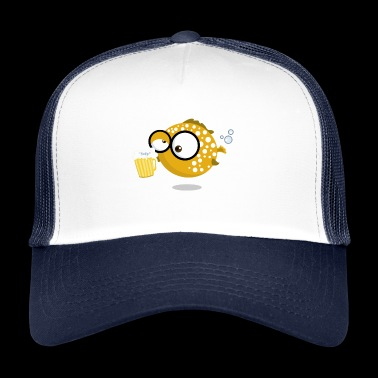 Puffer Pops - Puffer fish with beer - Trucker Cap