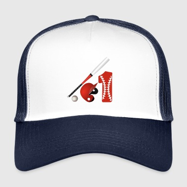 Baseball, n. 1 racchetta da gioco Major League - Trucker Cap