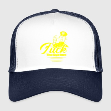 FUCK THE SYSTEM Yellow - Trucker Cap