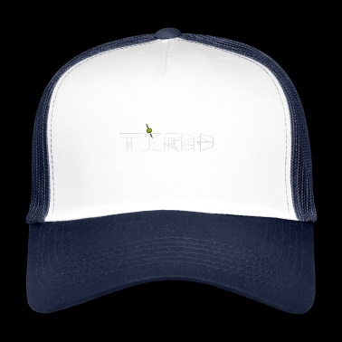 Tired martini cocktail design - Trucker Cap