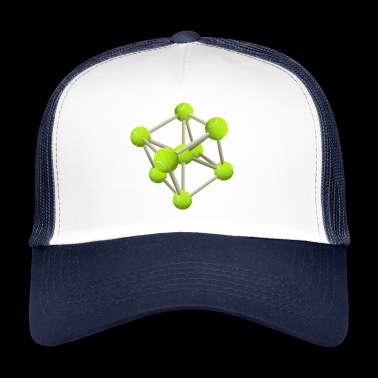 Génétique Tennis Sports Génétique DNA Tennis Ball Molecule - Trucker Cap