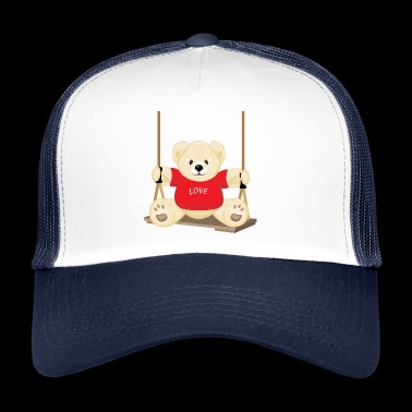Teddy bear on the swing - Trucker Cap