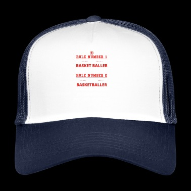 gift rule 1 always right BASKET BALLER - Trucker Cap