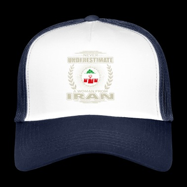 Never Underestimate Girl Woman IRAN png - Trucker Cap
