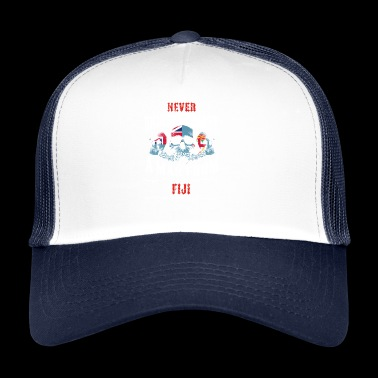never underestimate man FIJI - Trucker Cap