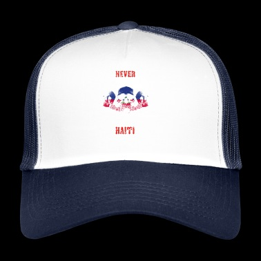 never underestimate man HAITI - Trucker Cap