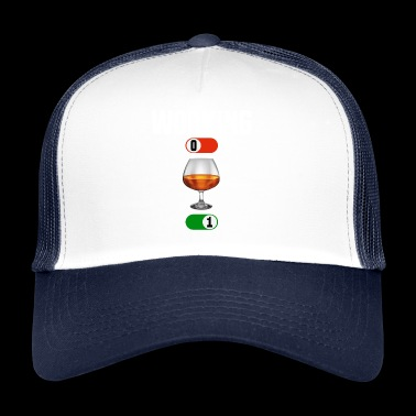 Praca OFF ON brandy pić truciznę - Trucker Cap