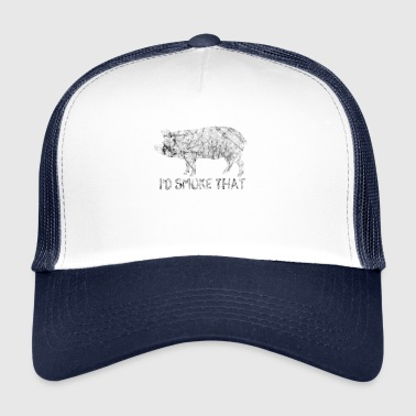 I'd Grilling The Incense BBQ BBQ Shirt - Trucker Cap