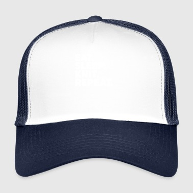 Eet Sleep Knit Repeat - Grappig Breien Haken - Trucker Cap