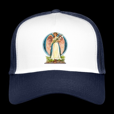 Flora the angel with lily flowers - Trucker Cap