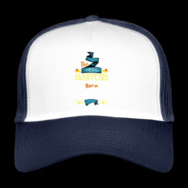 Best Janitors are Born in January Gift Idea - Trucker Cap