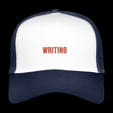 Äta sömn Writing Repeat - Rolig gåva - Trucker Cap