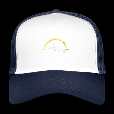 Yellowstone National Park 1872 Lengdegrad Breddegrad - Trucker Cap