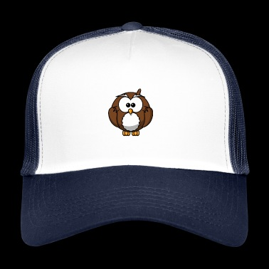 Owl with bump funny shirt - Trucker Cap