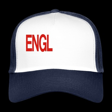 England Red and White Shirt in Guitar Chords - Trucker Cap