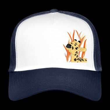 Single Giraffe Savanna - Trucker Cap