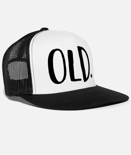 Old Caps & Hats - Old - Trucker Cap white/black
