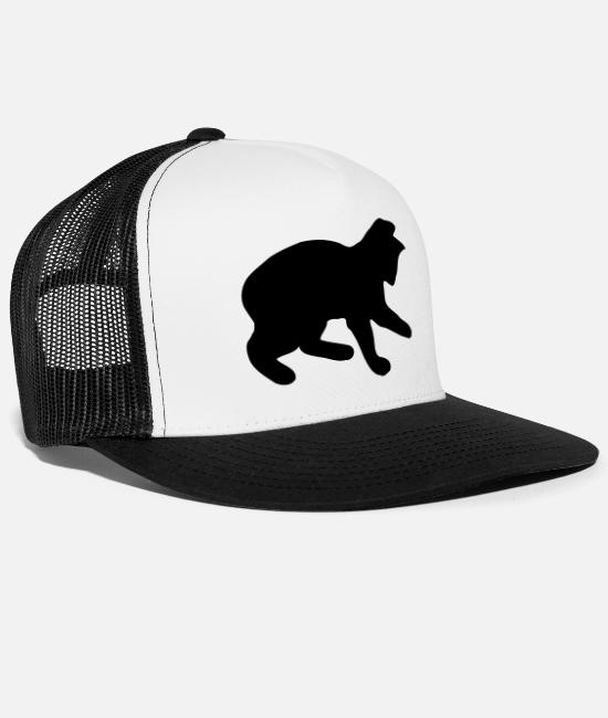 Hypocrite Caps & Hats - Cat - cat - Trucker Cap white/black