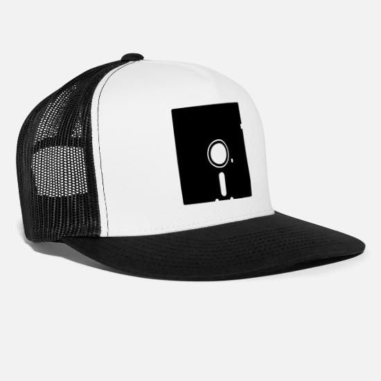 Computer Caps & Hats - Computer - Trucker Cap white/black