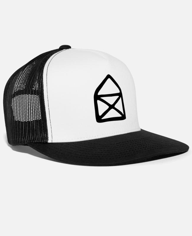 Drawing Caps & Hats - House of Nicholas - Trucker Cap white/black