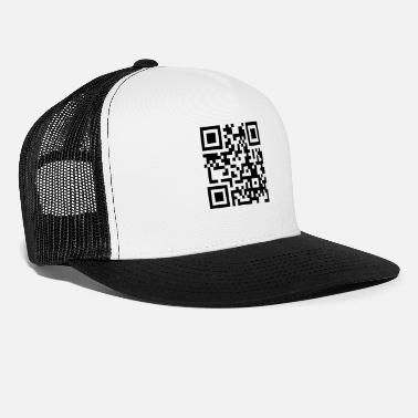 Pinda S its_peanut_butter_jelly_time_qrcode_1c - Trucker cap