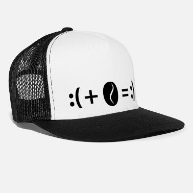 Fortunately Formula Good luck coffee: sad + coffee = happy - Trucker Cap