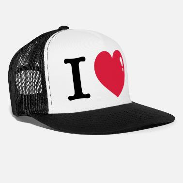 I Heart I love I Heart - Trucker Cap