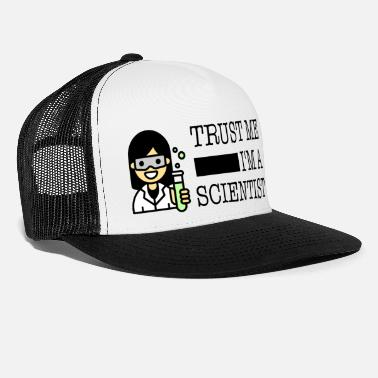 Trust me I'm a scientist female Asian - Trucker Cap