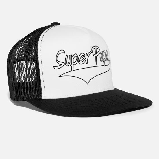 Dad Caps & Hats - Super Dad! - Trucker Cap white/black