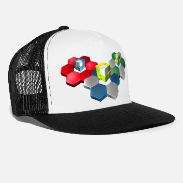 Shape 3d kuutiot ja Hex Shape - Trucker cap