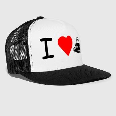 I love train train railroad - Trucker Cap