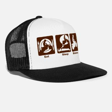 301 301 motocross eat sleep play - Trucker Cap