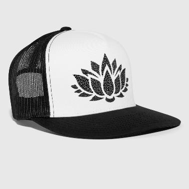 Blume schwarz cool stylish modern Mode modisch - Trucker Cap