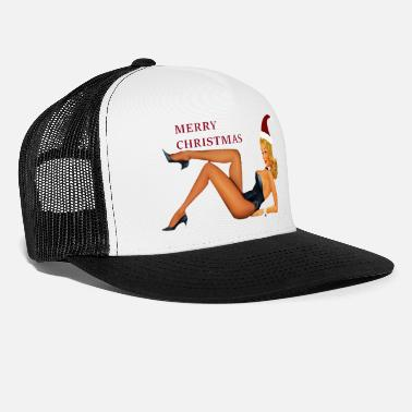 pin up christmas girl - Trucker Cap
