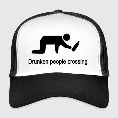 Bangkok Drunken people crossing - Trucker Cap