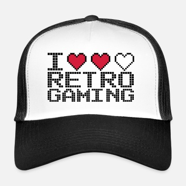 I Heart Retro Gaming Quote - Trucker cap