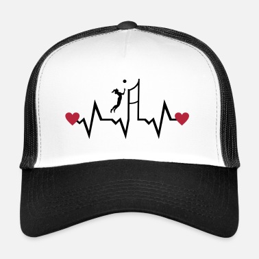 Beachvolley Volleyball Player & Heartbeat, woman - Trucker Cap