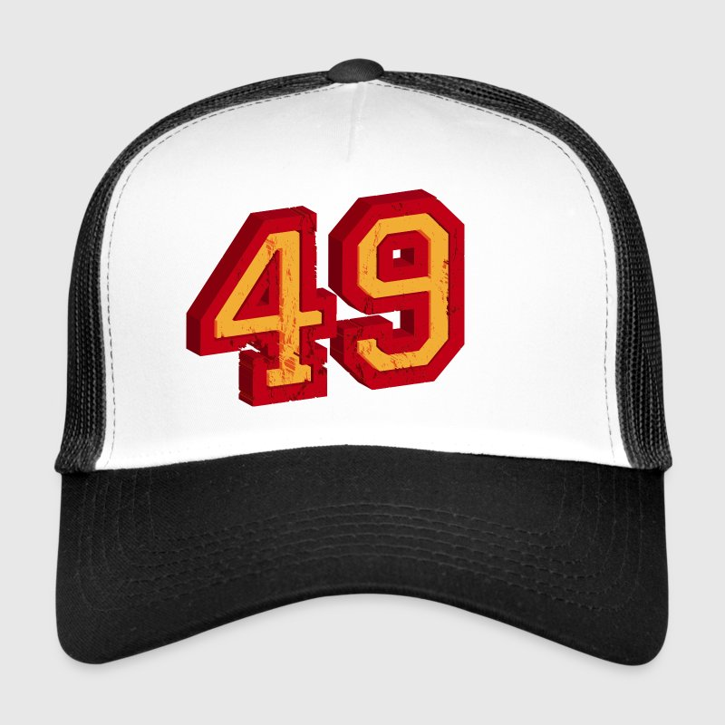 Number 49 3D - Trucker Cap
