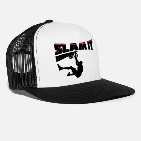 Slam Caps & Hats - Basketball Slam It - Trucker Cap white/black
