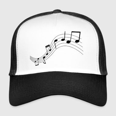 Music notes, music, notes - Trucker Cap