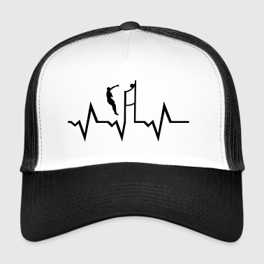 Volleyball Player & Heartbeat - Trucker Cap